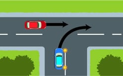 Uncontrolled T Intersection Give way rules at inte...