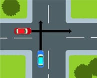 Uncontrolled T Intersection Does the driver of the...