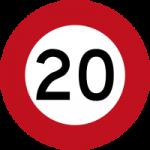 20kph-sign