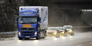 vehicle platooning-volvo-roadtrain
