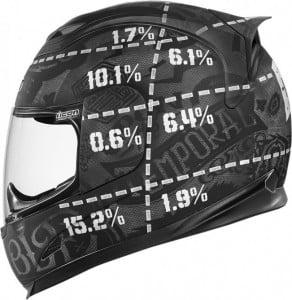 helmet impact points left side