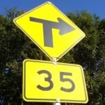 advisory speed sign