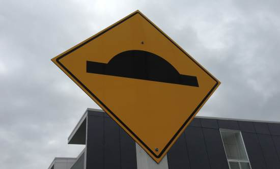 humps in the road sign