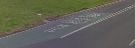 T2 lane marking