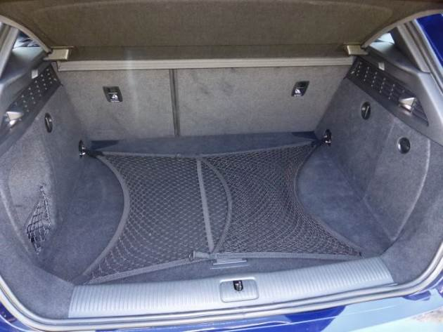 Audi S3 cargo net in the boot
