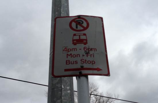 Bus stop with time limit