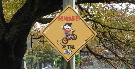child warning sign