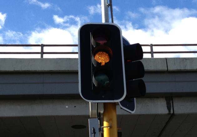 amber, orange or yellow traffic light