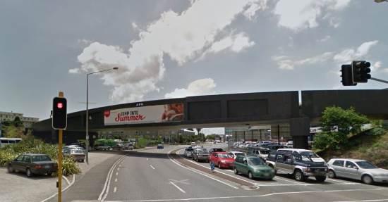 railway bridge over The Strand, Auckland