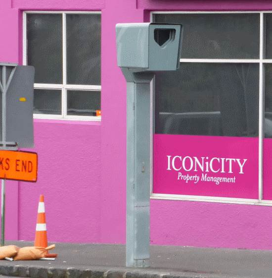 Red light camera in Auckland