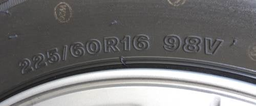 tyre size marking