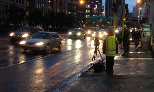 traffic enforcement - recording vehicles driving in bus lanes during their operation hours