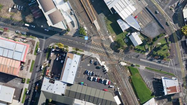 railway crossing at Morningside, Auckland