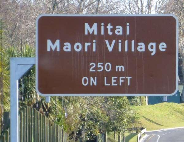 tourist sign advance warning