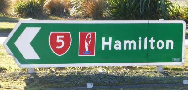 tourist sign thermal explorer highway
