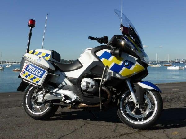 police motorbike side