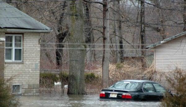 flood with car