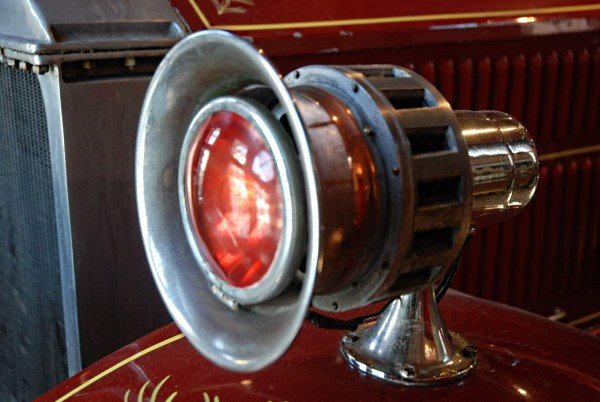 antique fire truck siren