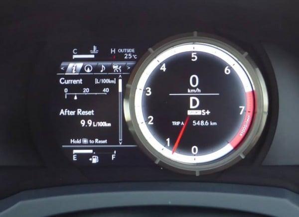 Lexus RC350 2015 instruments