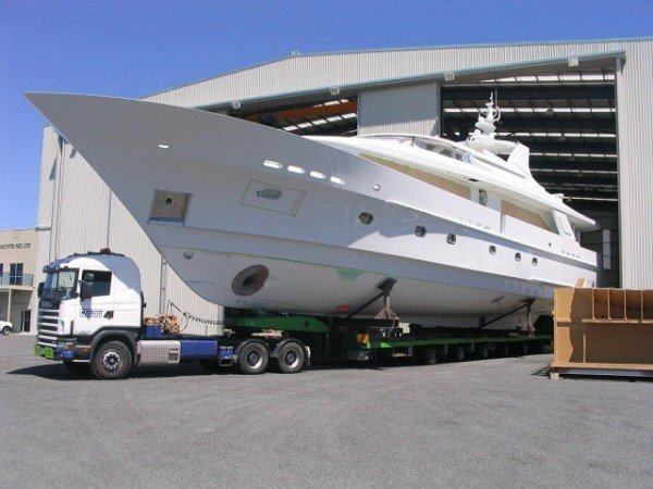 Sovereign Yachts boat haulage