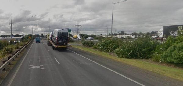 The two-lane on-ramp at Mount Wellington is long to give trucks a chance to get up-to-speed