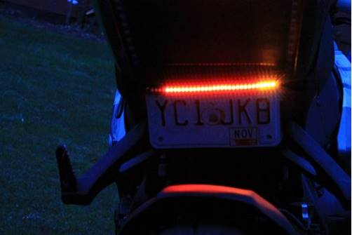 motorbike safety numberplate light
