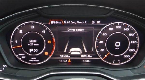2016 Audi A4 TDI quattro sport instrument cluster