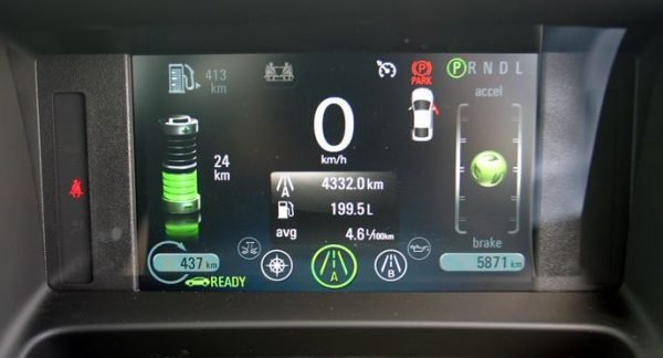 Holden Volt instrument cluster and display