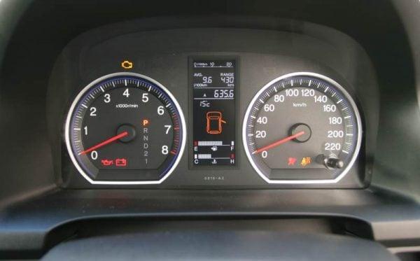Honda CRV Sport instrument cluster