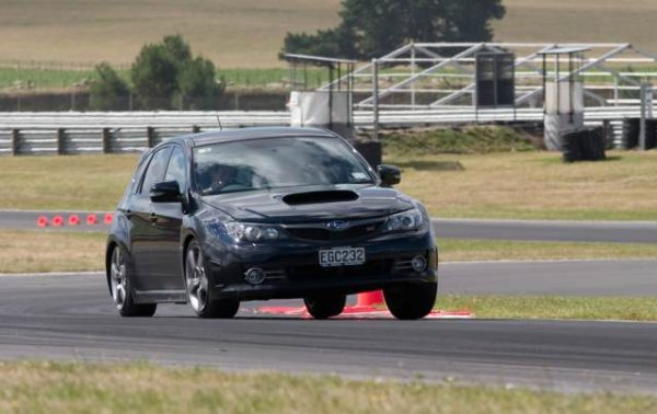 Me driving a Subaru around Taupo at a press event. This car would have been sold to the general public