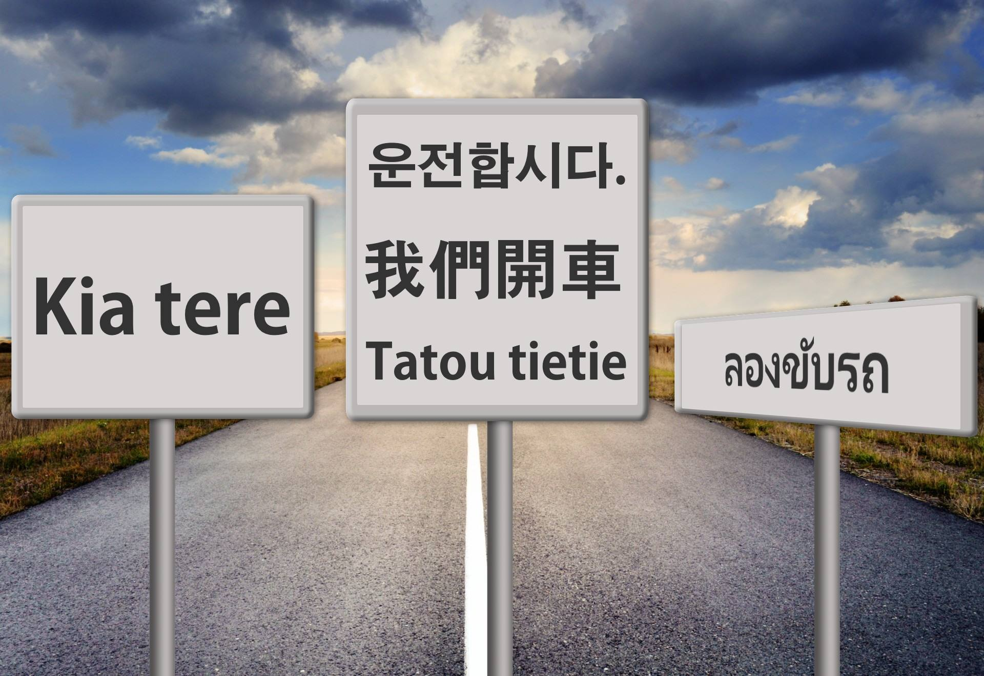What language can I take my driving test in?