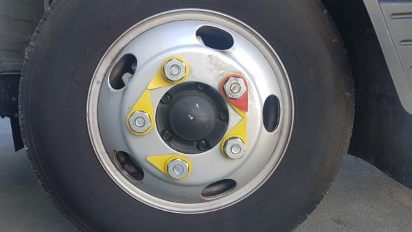 red wheel nut indicator