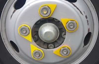 One of the lug nuts has come loose